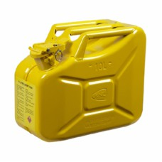 Metal Akaryakıt Benzin Bidonu Sarı 10LT.