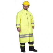 İtfaiyeci Yağmurluğu Alev Taşımaz Reflektörlü Sarı Renkli