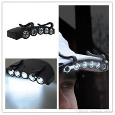 Şapka Feneri Klipsli 5 Ledli Pille Çalışır Model