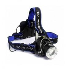 Şarjlı Kafa Feneri  T28205 Lambası (5W Cree LED - Zoom Özellikli)