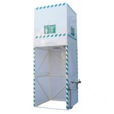 Acil Duş Sistemi Kabinli Üstten Su Depolu