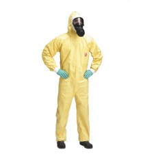 Tychem® C Dupont Kimyasal Koruyucu Tulum Renk Sarı Cat III Type 3/4/5/6