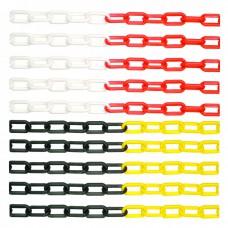 Plastik Trafik Zinciri Kırmızı-Beyaz