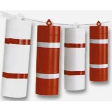Grilent Plastik Reflektörlü Renkler Kırmızı & Beyaz
