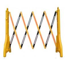 Akordeon Mobil Katlanabilir Bariyer Sarı