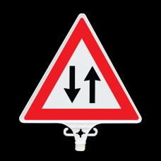 UT 2804 İki Yönlü Trafik Uyarı Levhası Çift Yön 380mm