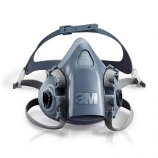 3M 7501 Yarım Yüz Maskesi Çift Filtre Takılabilir Küçük Boy